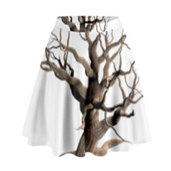 Tree Isolated Dead Plant Weathered High Waist Skirt