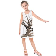 Tree Isolated Dead Plant Weathered Kids  Sleeveless Dress