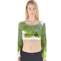 Broccoli Bunch Floret Fresh Food Long Sleeve Crop Top