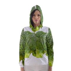 Broccoli Bunch Floret Fresh Food Hooded Wind Breaker (women)