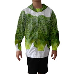 Broccoli Bunch Floret Fresh Food Hooded Wind Breaker (Kids)