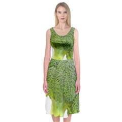 Broccoli Bunch Floret Fresh Food Midi Sleeveless Dress