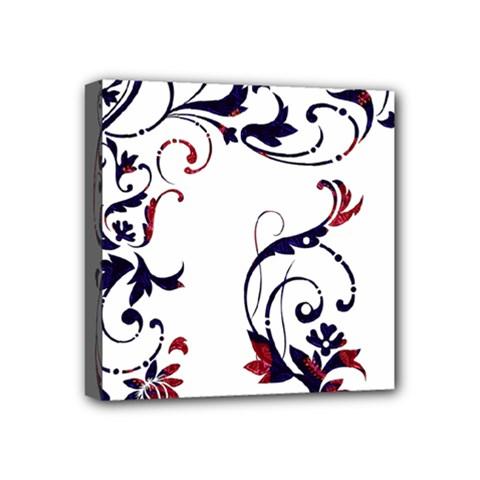 Scroll Border Swirls Abstract Mini Canvas 4  X 4