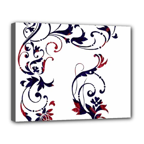 Scroll Border Swirls Abstract Canvas 14  X 11