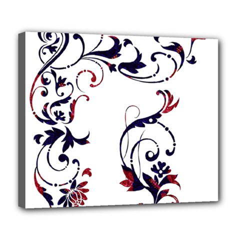 Scroll Border Swirls Abstract Deluxe Canvas 24  X 20