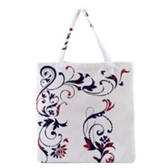 Scroll Border Swirls Abstract Grocery Tote Bag