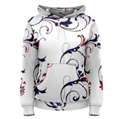 Scroll Border Swirls Abstract Women s Pullover Hoodie