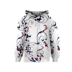 Scroll Border Swirls Abstract Kids  Zipper Hoodie