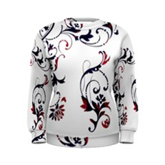Scroll Border Swirls Abstract Women s Sweatshirt