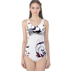 Scroll Border Swirls Abstract One Piece Swimsuit