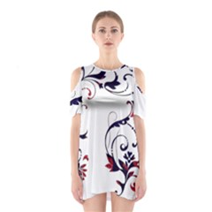 Scroll Border Swirls Abstract Shoulder Cutout One Piece
