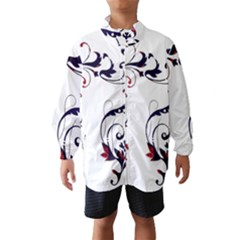 Scroll Border Swirls Abstract Wind Breaker (kids)