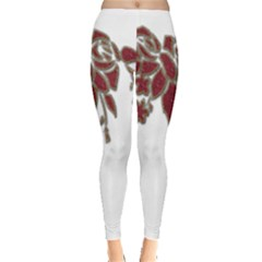Scrapbook Element Nature Flowers Leggings