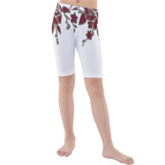 Scrapbook Element Nature Flowers Kids  Mid Length Swim Shorts