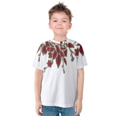 Scrapbook Element Nature Flowers Kids  Cotton Tee