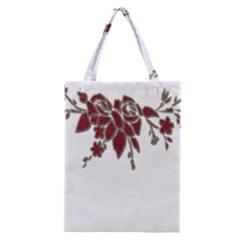 Scrapbook Element Nature Flowers Classic Tote Bag