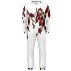 Scrapbook Element Nature Flowers Onepiece Jumpsuit (men)