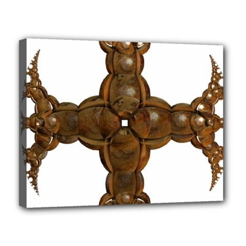 Cross Golden Cross Design 3d Canvas 14  X 11