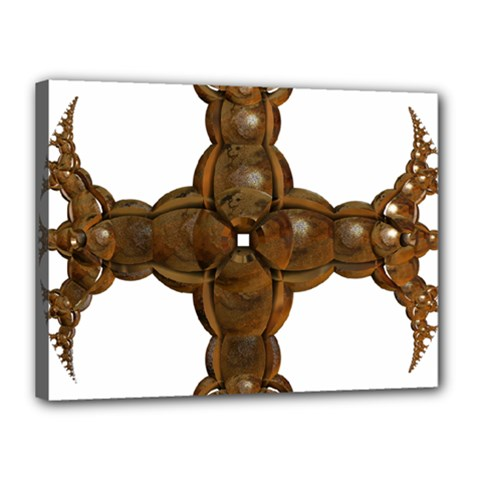 Cross Golden Cross Design 3d Canvas 16  x 12