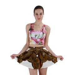 Cross Golden Cross Design 3d Mini Skirt