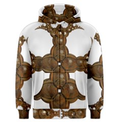 Cross Golden Cross Design 3d Men s Zipper Hoodie