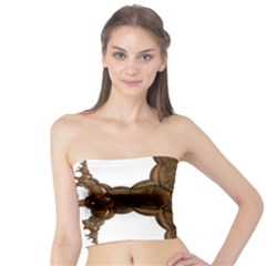 Cross Golden Cross Design 3d Tube Top
