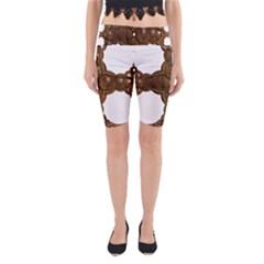 Cross Golden Cross Design 3d Yoga Cropped Leggings