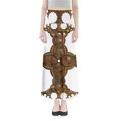 Cross Golden Cross Design 3d Maxi Skirts