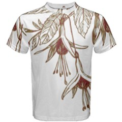 Floral Spray Gold And Red Pretty Men s Cotton Tee