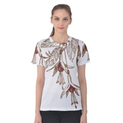 Floral Spray Gold And Red Pretty Women s Cotton Tee