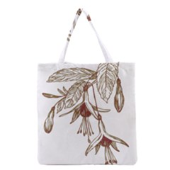 Floral Spray Gold And Red Pretty Grocery Tote Bag