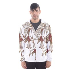 Floral Spray Gold And Red Pretty Hooded Wind Breaker (men)