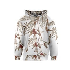 Floral Spray Gold And Red Pretty Kids  Pullover Hoodie