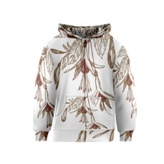 Floral Spray Gold And Red Pretty Kids  Zipper Hoodie