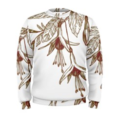 Floral Spray Gold And Red Pretty Men s Sweatshirt