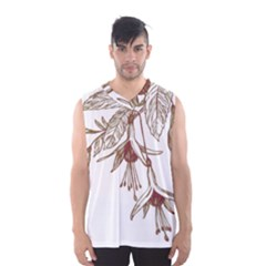 Floral Spray Gold And Red Pretty Men s Basketball Tank Top