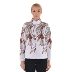 Floral Spray Gold And Red Pretty Winterwear