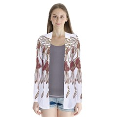 Floral Spray Gold And Red Pretty Cardigans