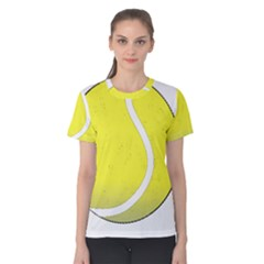 Tennis Ball Ball Sport Fitness Women s Cotton Tee