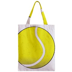 Tennis Ball Ball Sport Fitness Zipper Classic Tote Bag