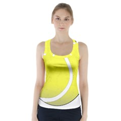 Tennis Ball Ball Sport Fitness Racer Back Sports Top