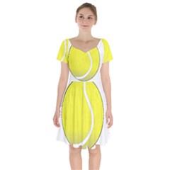 Tennis Ball Ball Sport Fitness Short Sleeve Bardot Dress