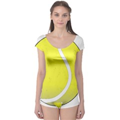 Tennis Ball Ball Sport Fitness Boyleg Leotard