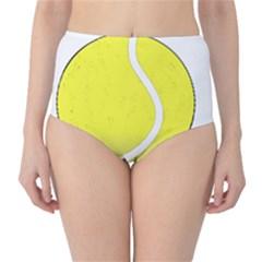 Tennis Ball Ball Sport Fitness High Waist Bikini Bottoms