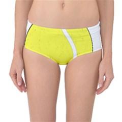 Tennis Ball Ball Sport Fitness Mid Waist Bikini Bottoms