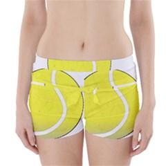 Tennis Ball Ball Sport Fitness Boyleg Bikini Wrap Bottoms