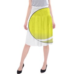 Tennis Ball Ball Sport Fitness Midi Beach Skirt