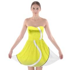 Tennis Ball Ball Sport Fitness Strapless Bra Top Dress