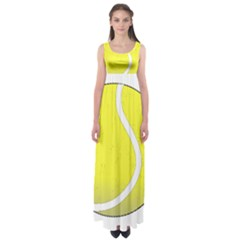 Tennis Ball Ball Sport Fitness Empire Waist Maxi Dress