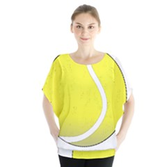 Tennis Ball Ball Sport Fitness Blouse